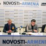 Пресс-конференция АКБА КРЕДИТ АГРИКОЛЬ БАНКА и АрменТел