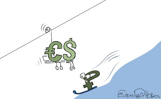 Доллар и евро на ММВБ взлетели до новых максимумов за 13 месяцев