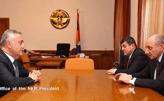 Президент НКР обсудил с главой Центробанка Армении вопросы сотрудничества в банковской сфере
