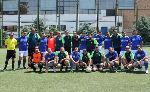 Friendly football match between VTB Bank (Armenia) and Armenian journalists ended 6-2