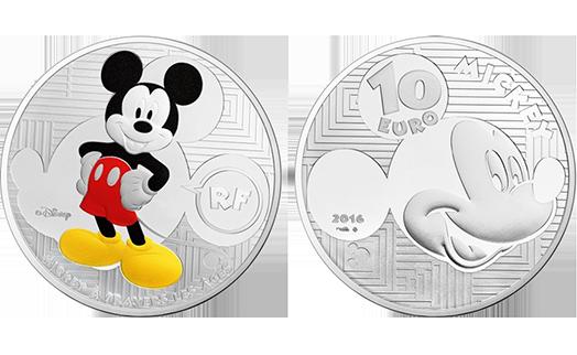 Парижский монетный двор выпускает серию монет в честь Микки Мауса