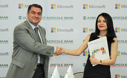 ACBA-CREDIT AGRICOLE BANK and Microsoft to contribute to SME digitalization in Armenia