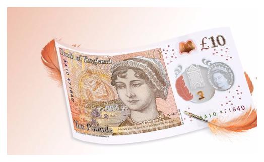 Банк Англии представил банкноту в 10 фунтов с портретом Джейн Остин