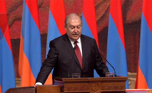 Armenian new president sworn in