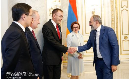 Armenian prime minister emphasizes cooperation between central banks of EEU member states