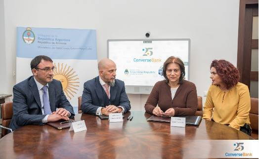 Converse Bank will fund the work connected with opening of Argentine Center in Yerevan