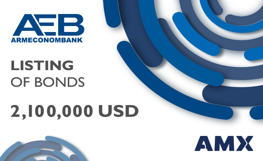 Armeconombank's $2.1 million USD-denominated  bonds  listed on Armenia Securities Exchange