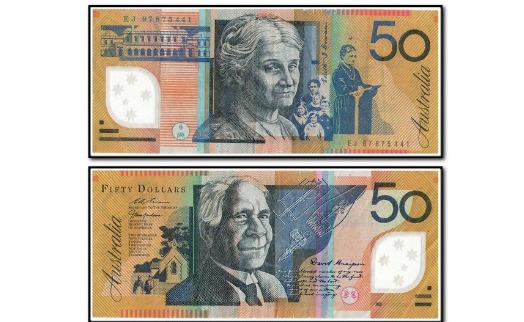В новой австралийской 50-долларовой банкноте нашли опечатку