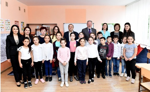 Stepan Gishyan charity and Armenian Fund for Sustainable Development help children in Ijevan with learning French