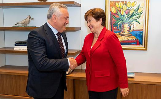 Джавадян пригласил исполнительного директора МВФ Кристалину Георгиеву посетить Армению