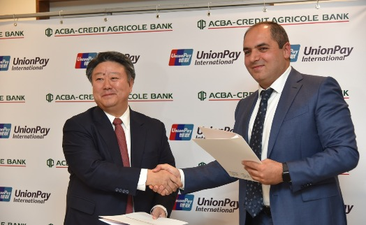 UnionPay partners ACBA- CREDIT AGRICOLE BANK to support card acceptance in Armenia