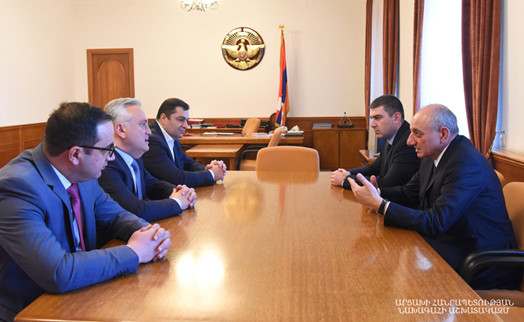 Artsakh president and Armenian central bank  chairman discuss cooperation